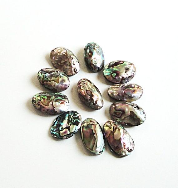 Abalone Paua Shell  Oval Beads (5) Pcs
