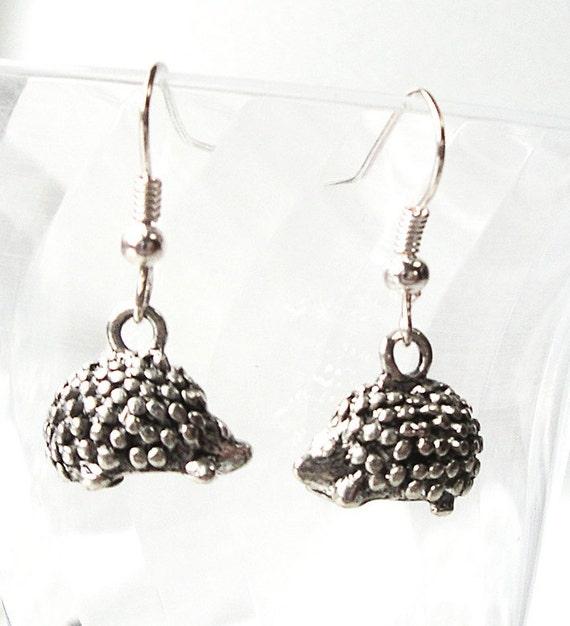Hedgehog Antique Silver plated Earrings