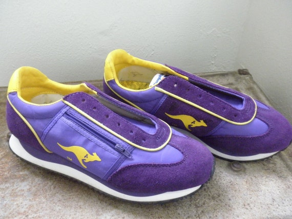 retro kangaroo lace up tennis shoes by desertmoss on etsy