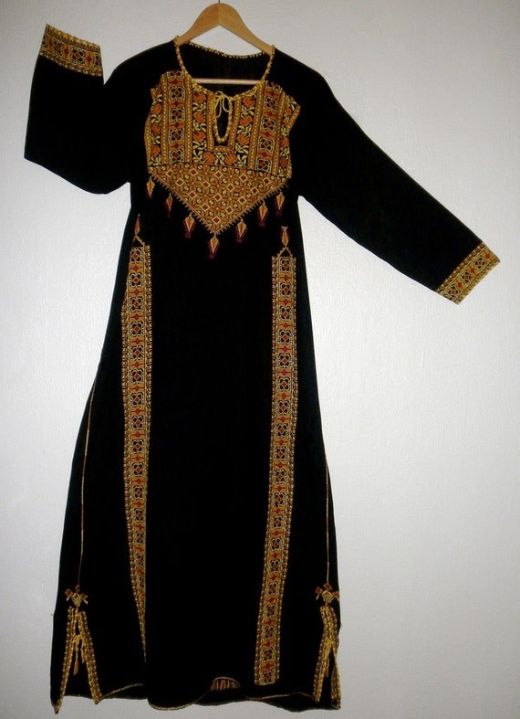 Vintage Handmade Bohemian Deco Maiden Tent Dress - HIGHLY Detailed - Perfect Condition