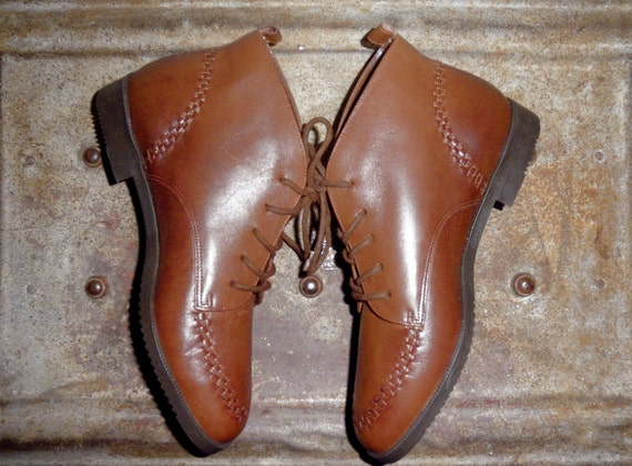 Ellemenno Brown Leather Ankle Boots - Beautiful Condition