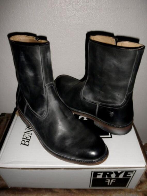 Frye Boots - James Inside Zip Boot with low heel