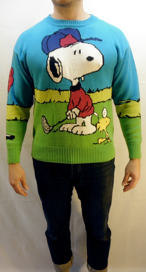 RESERVED for EMMIE - Snoopy and Friends by Bill Ditfort Sweater - Charles Schulz - Men's Medium - Excellent Condition