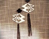 """Laser cut crystal """" Specular Rhombs"""" earrings"""