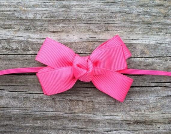 Hot Pink Baby Bow Headband, Hot Pink Boutique Bow Headband, Pink Pinwheel Hair Bow, Baby Headband, Toddler Headband, FREE SHIPPING PROMO