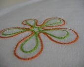 Flower Power  Hand Embroidered Pillowcases (set of 2)