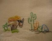 Siesta  Hand Embroidered Dish Towel