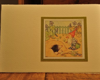 greeting card with vintage image