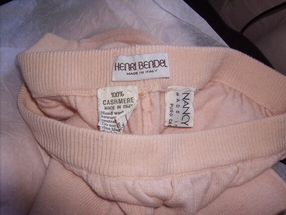 Nancy Heller for Henri Bendel Pink 100% Cashmere Pants Made in Italy Pink