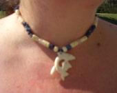 Bone and Stone Dolphine Necklace