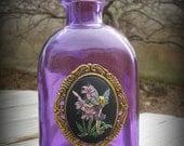 Springtime Fairy Purple Glass Bottle