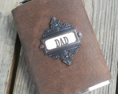 Leather Steampunk Western Hip Flask Fathers Day Dad Gift 8oz