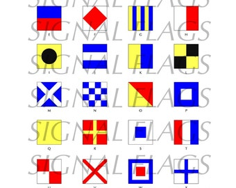 INSTANT Digital Download Signal Flag Alphabet for your Summer Memories
