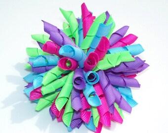 Summer Berry Fizz Large Korker Hair Bow
