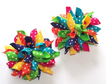 SALE You Choose 5 Pairs Of Mini Korker Hair Bows