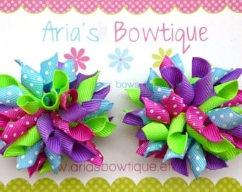 A Pair Fizzy Pop Mini Korker Hair Bows