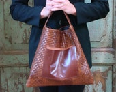 Reserved for Brummel     Handmade, Bag, Tote, Brown Leather, Rust, Envelope Bag, Modern, Contemporary, Vintage Leather, Upcycled, Recycled,  Repurposed, Eco-Fashion, Bags by VintageChase on Etsy