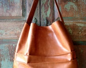 Reserved for Max  Handmade Camel Leather Hobo with Large Pockets, bags by VintageChase on Etsy