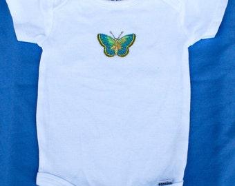 Metallic butterfly onesie, 12 months