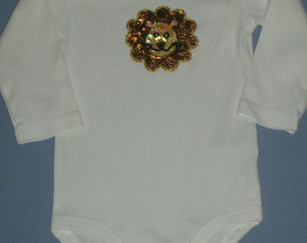 Sequined lion onesie, 9 months