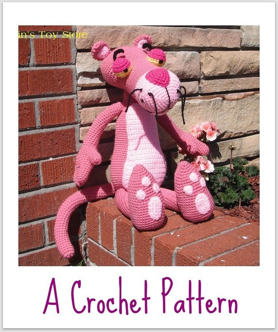 Amigurumi Free Pattern Pink Panther : Big Pink Panther a Crochet Pattern by Erin by ...
