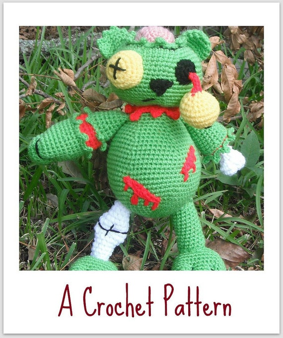 Zombie Bear A Crochet Pattern by Erin Scull