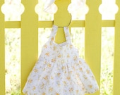 Baby sundress with matching bloomers and hat  FREE SHIPPING
