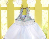 ON SALE Hand stitched and smocked  sundress