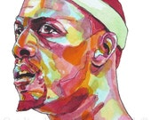 Paul Pierce Seeing Red Painting Reproduction Print 11 x 8.5