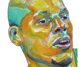 Ray Allen Yellow Painting Reproduction Print 11 x 8.5