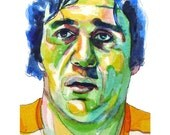 Boston Bruins Legend Phil Esposito Painting Reproduction Print 11 x 8.5