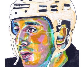 Boston Bruins Brad Marchand Painting Reproduction Print 11 x 8.5
