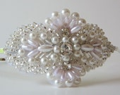Lillian Pearl Beaded Crystal Headband for Women and Teens by Jill's Boutique