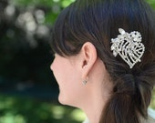 Bridal Vintage Rhinestone Brooch Hair Comb by Jill's Boutique on Etsy