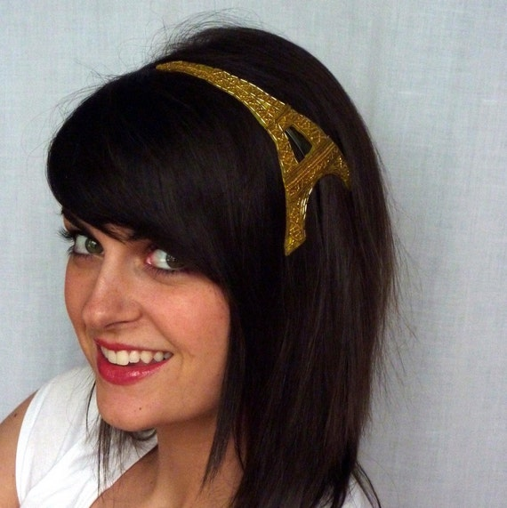 Golden Beaded  Eiffel Tower Headband Best Selling Original for Women and Teens by Jill's Boutique