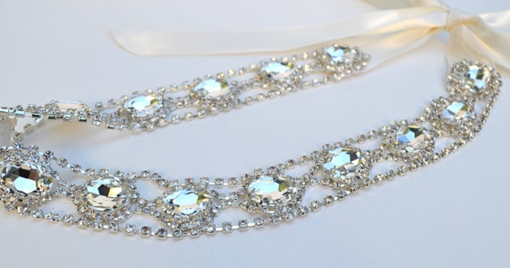 Bridal Rhinestone Sash Handmade for Women by Jill's Boutique