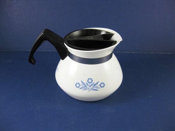 Corning Centura Cornflower Blue on White Mini Teapot  Mint Condition