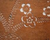 Antique Japanese Katagami (Kimono Stencil) -Plum Blossoms and Shells