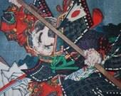 Japanese 'Anime' Vintage Print - Kyoto Bridge Fight Scene