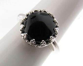 Customized Onyx Ring and Pendant in Sterling Silver - Praesidium