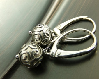 Idem - Sterling Silver Leverback Earrings