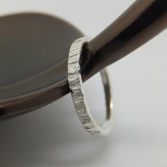 Sterling Silver Tree Bark Ring