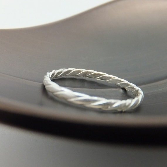 Sterling Silver Band, Sterling Silver Ring, Twisted Silver Band, Twisted Silver Ring, Wire Wrapped Ring, Wire Twisted Ring, Silver Ring