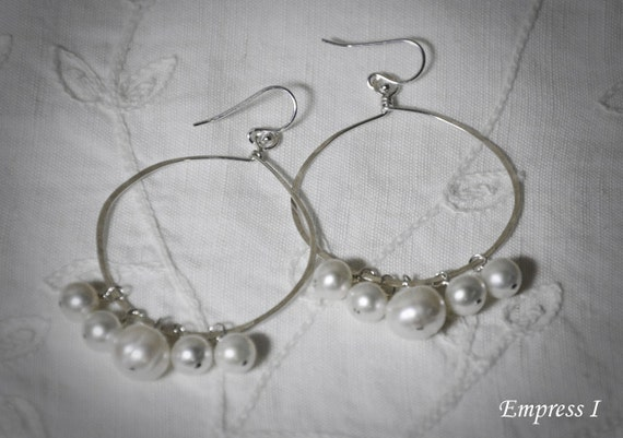 White Pearl Aphrodisiac Hoop Earrings