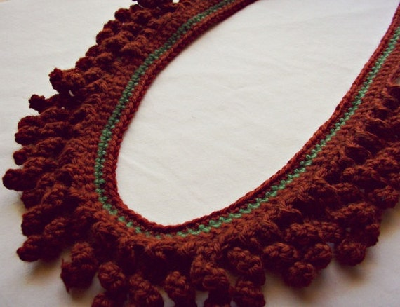 eclectic crochet jewelry-tribal necklace-bohemian necklace