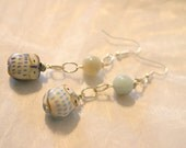 Cute Ceramic Owl dangle earrings - WOW, Owls