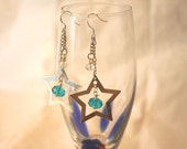 Sterling Silver and Swarovski Star Dangle Earrings - North Star