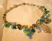 Swarovski, Pearl & Semi Precious Gem Mixed Media Choker Necklace - The Lost Highway