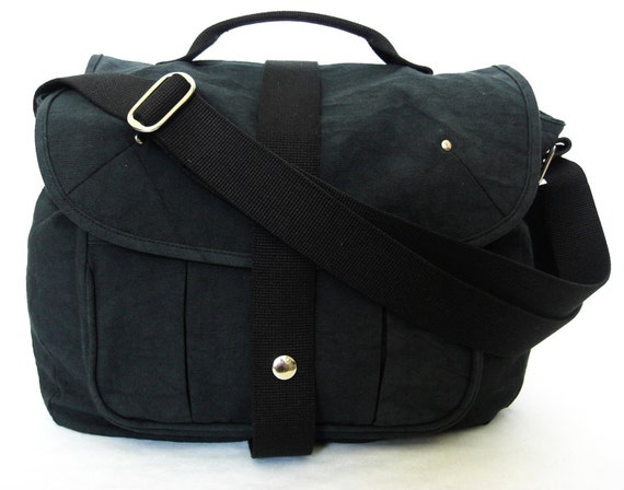 20% DISCOUNT-Organic and Fair Trade Cotton Canvas Mayfair Messenger/Satchel in Anthracite