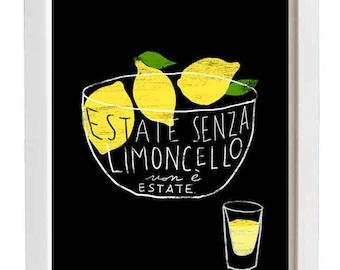 "LIMONCELLO 11""x15"" Italy Print - archival fine art giclée print"